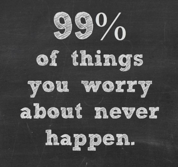 Quotes quote : 99% of things you worry about never happen