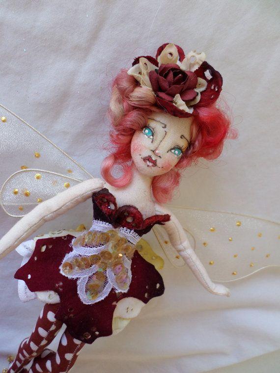 OOAK Fairy Art Doll  Livanna Moon Tanglewood  by paulasdollhouse