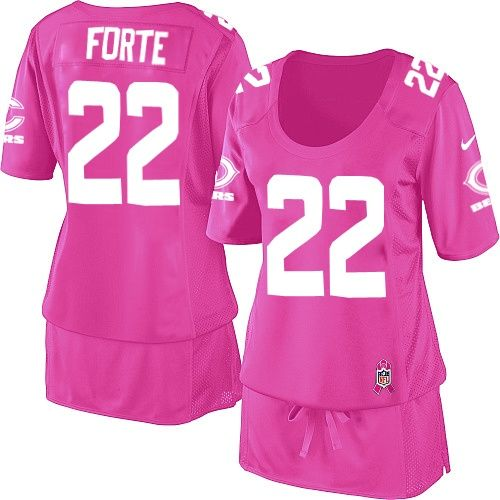 $109.99 Women's Nike Chicago Bears #22 Matt Forte Elite Breast Cancer Awareness Pink Jersey