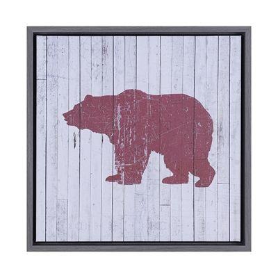 Hobbitholeco Red Bear Wooden Framed Art