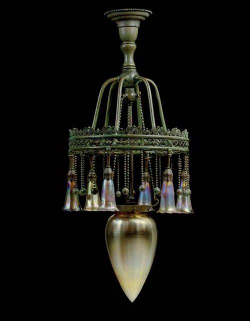 Louis Comfort Tiffany chandelier..love...love...