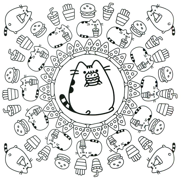 94 best Pusheen Coloring Book images on Pinterest   Coloring books ...
