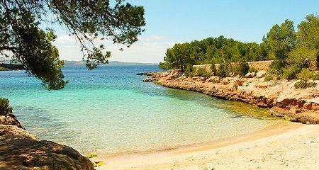 Sun, sea and tranquillity #CalaGracioneta #Ibiza