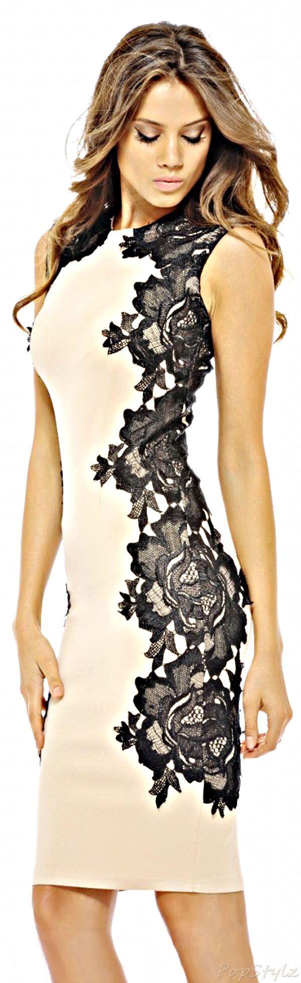 AX Paris Lace Crochet Side Midi Dress