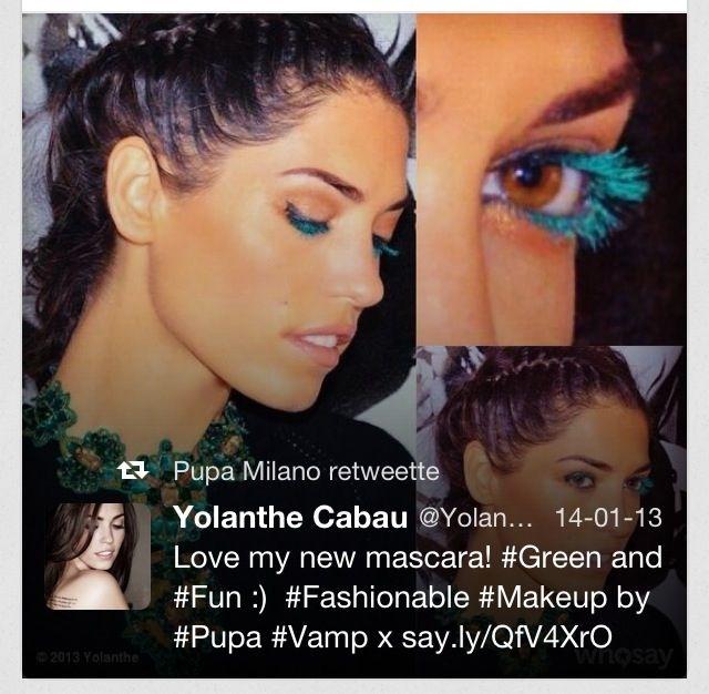 Gekleurde mascara helemaal hot!!
