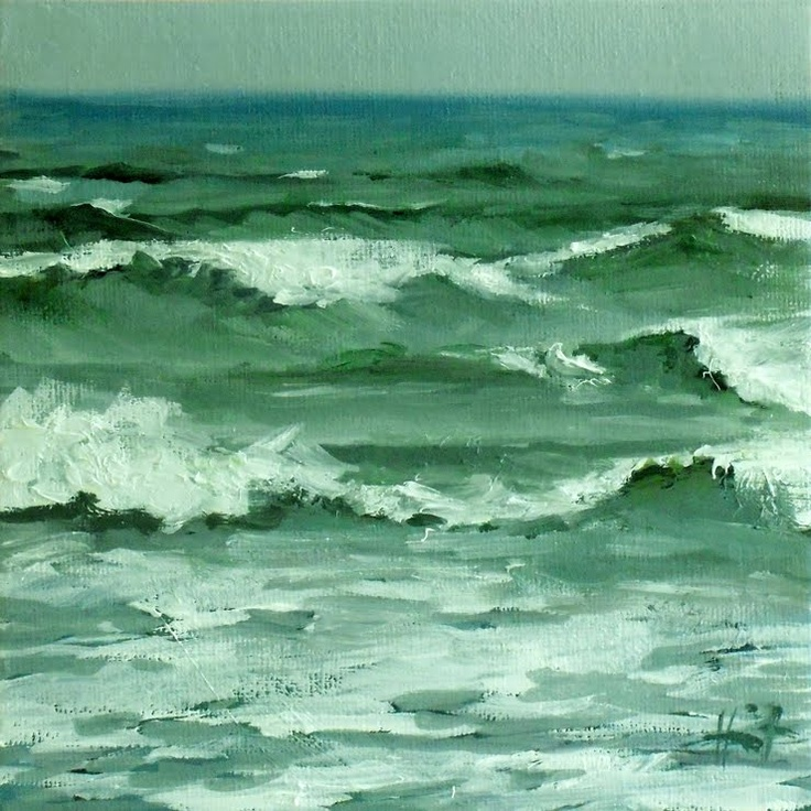 Rough Sea By Liza Hirst I Just Love Ocean Paintings And These Colors Are