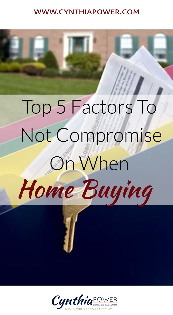 Top 5 Factors To Not Compromise On When Home Buying