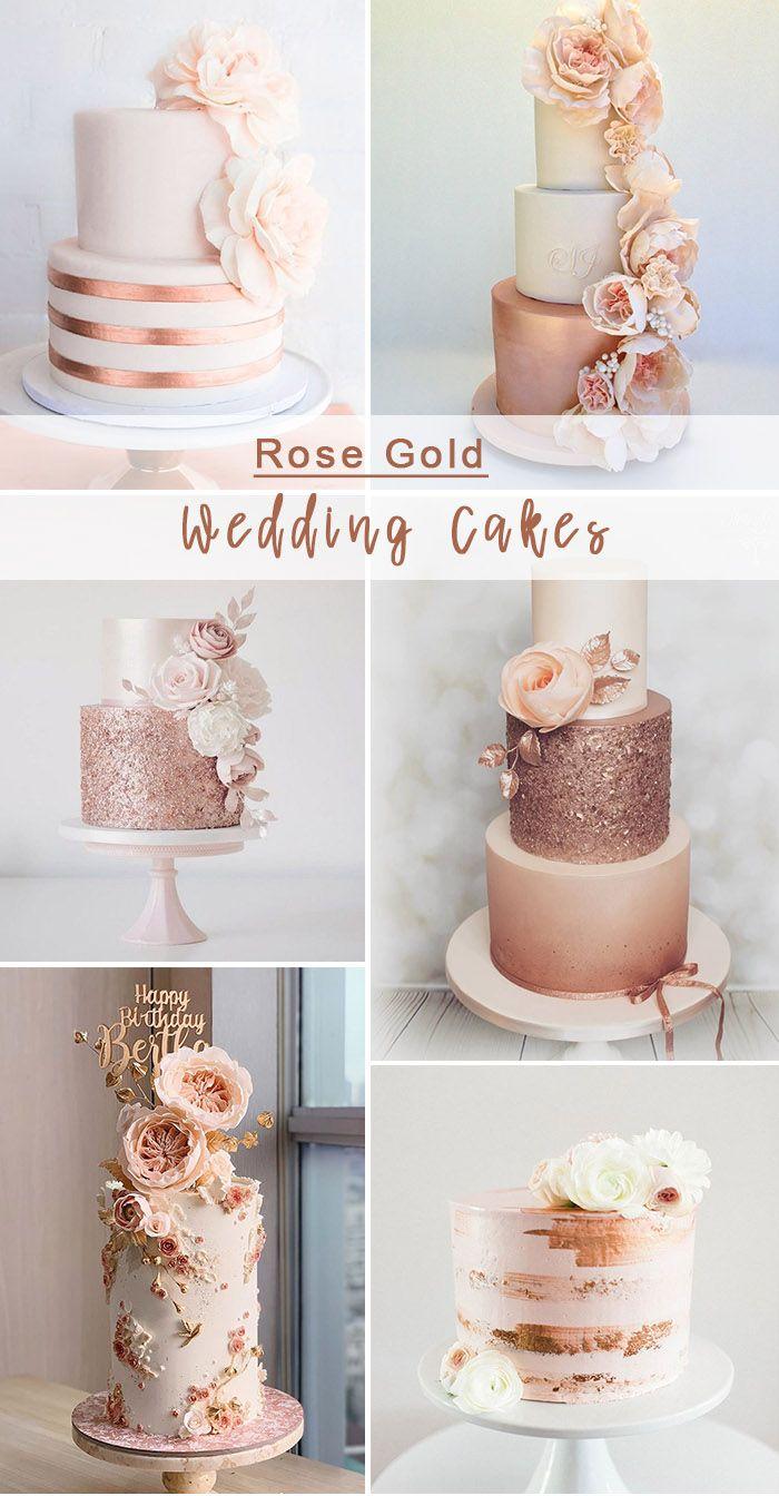 Get Inspired By 12 Stunning Rose Gold Wedding Decoration Ideas Elegantweddinginvites Com Blog In 2021 Rose Gold Cake Rose Gold Wedding Cakes Rose Gold Wedding Decor