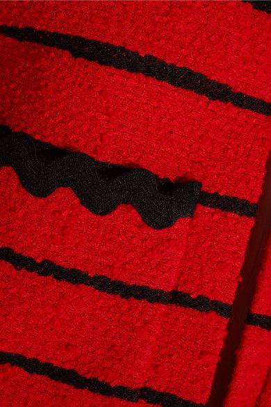 Sonia Rykiel - Striped Cotton-blend Bouclé-tweed Jacket - Red - FR42