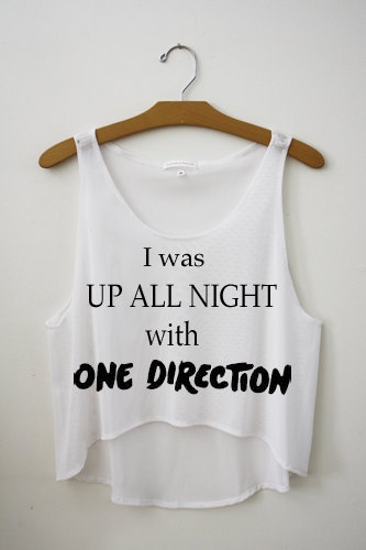 UP ALL NIGHT One Direction Cropped Tank Top. $23.99, via Etsy.