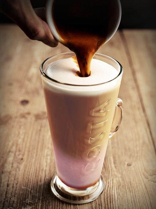 Jaro 2017 - Jahodové caffe latte - přivolejte si teplejší zítřky