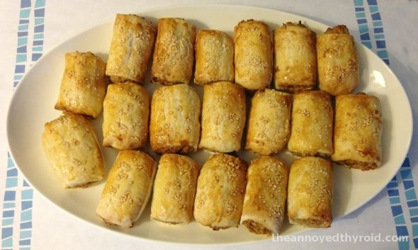 Meatless Monday – Thermomix Vegetarian Sausage Rolls (use filo pastry)
