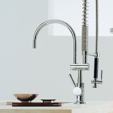 Kitchen trends modern classic and faucets on pinterest for Kitchen faucet trends