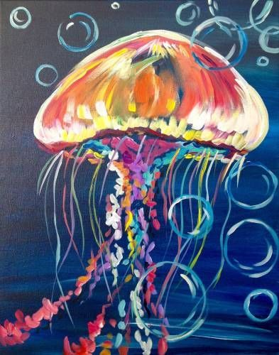 Jelly Fish painting. 12 best painting easy images on Pinterest