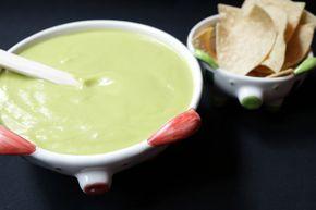 Salsa verde con calabaza para Flautas De Res.