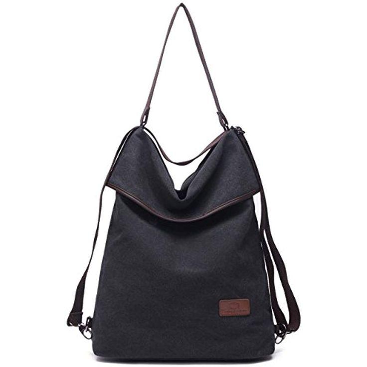 Travistar Damen Canvas Schultertasche Rucksack Groß Handtasche Vintage Damen Um…