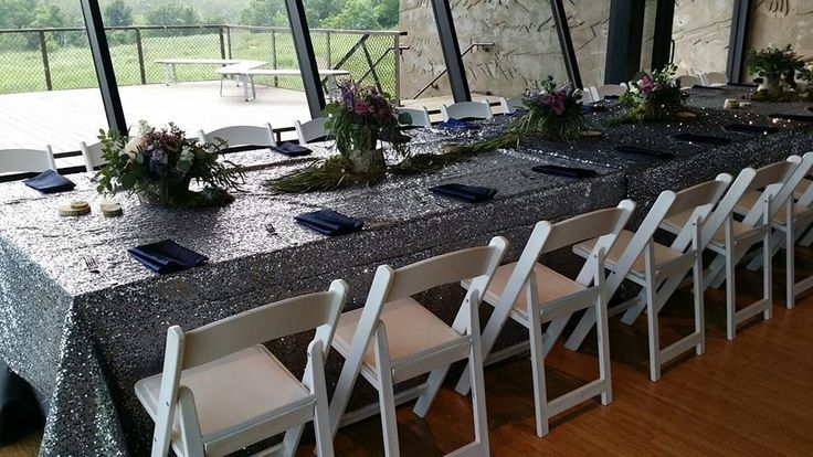 Charcoal Sequin Linens will sparkle and shine among your tables while still reflecting a rich and elegant color.   http://www.amlinenrental.com/shop-now/Charcoal-Sequin-Linens-p59199835