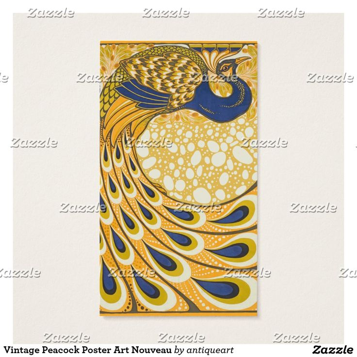 26 best business cards images on pinterest business cards carte vintage peacock poster art nouveau business card reheart Gallery