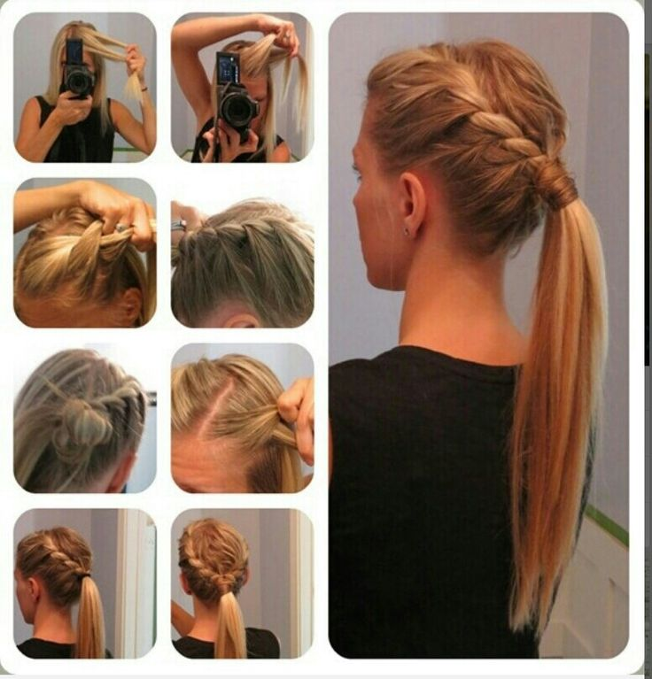 164 best hairstyles images on pinterest hairstyle ideas plaits perfect hair style idea for teen agers smaller french braid to the ponytail and wallah me gusta mucho esta idea aunque no se si me quedaria asi solutioingenieria Gallery