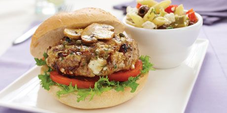Turkey Burger with Feta