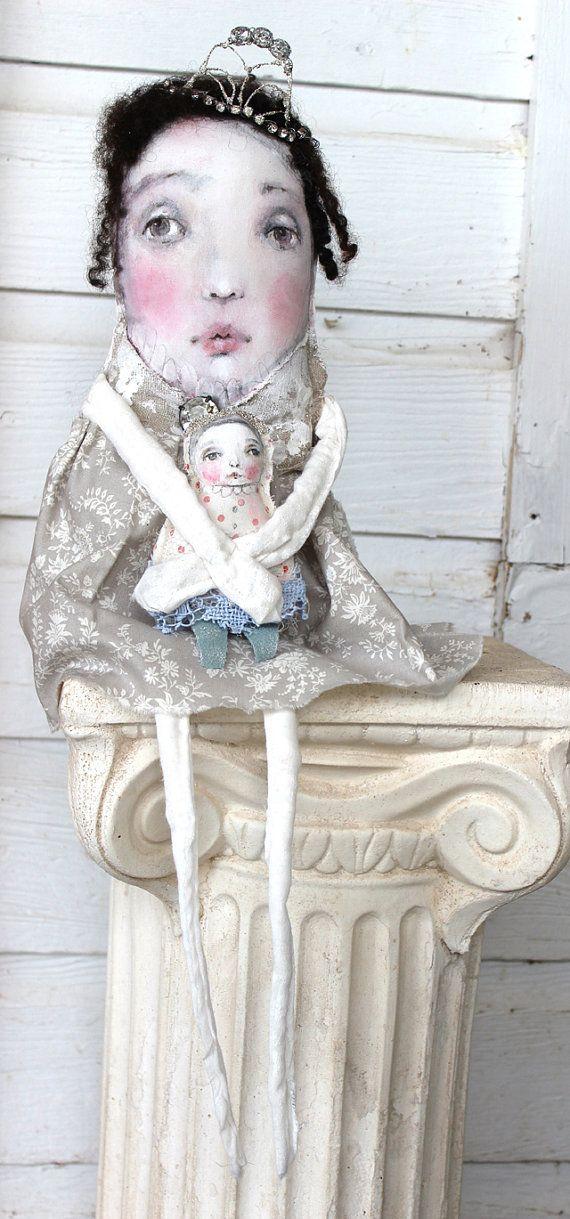 original textile mixed media fabric fiber ooak art by fadedwest