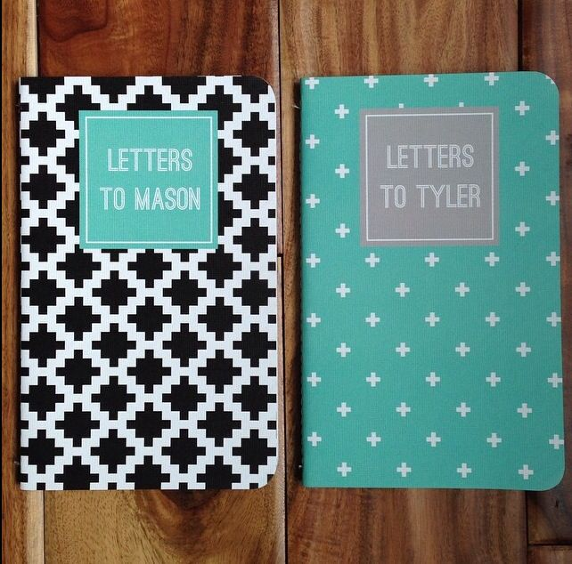 """We think these """"letters to"""" journals are adorable! What a lovely keepsake. RT @atprettyblog Look what just graced my mailbox! I can't wait to fill these with memories, letters, and love and gift them at my boys graduations."""