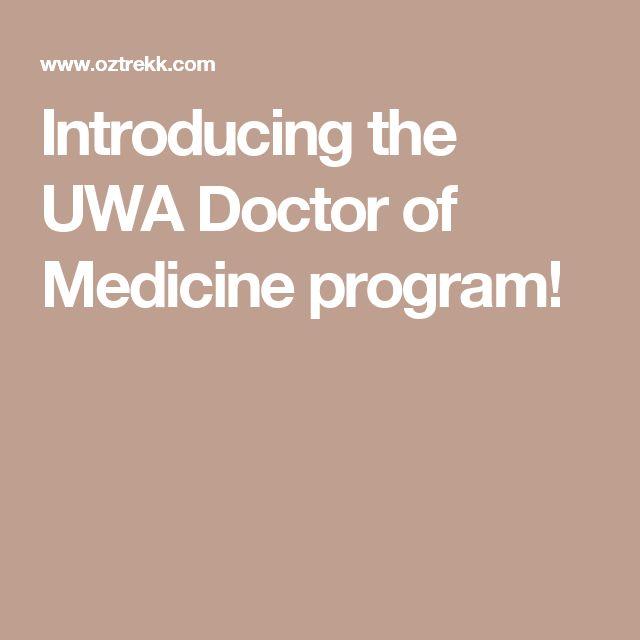 Introducing the UWA Doctor of Medicine program!