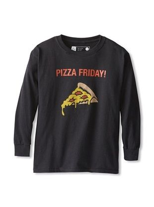67% OFF Little Dilascia Kid's Pizza Friday Long Sleeve Tee (Black)