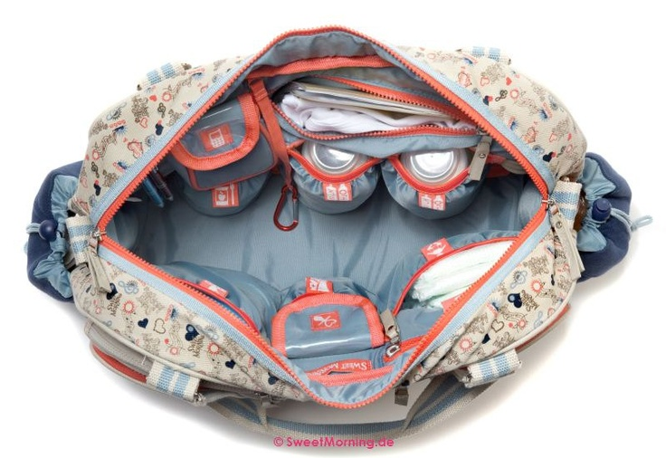 Designer Baby changing bag - Radio Ga Ga by Sweet Morning   - summer 2012 - baby nappy bag. €155.00, via Etsy.