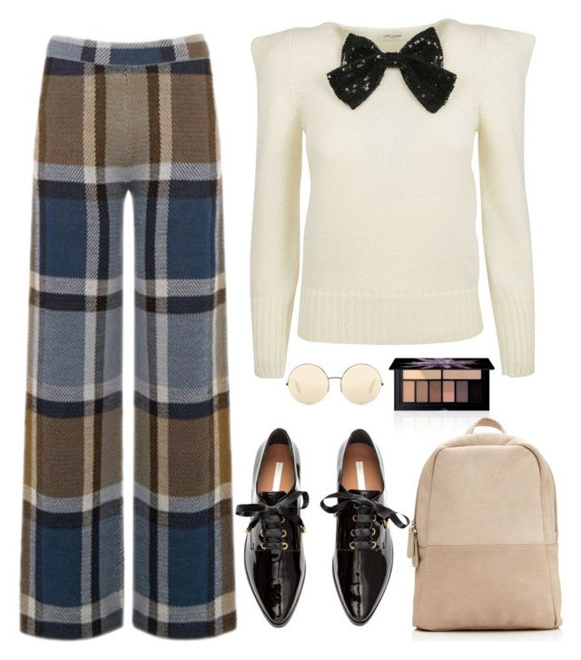 """Hello Friday!"" by piedraandjesus ❤ liked on Polyvore featuring Warehouse, Smashbox, Yves Saint Laurent, Victoria Beckham and H&M"