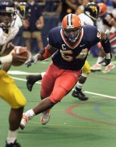 #54 DE Dwight Freeney in College #Syracuse