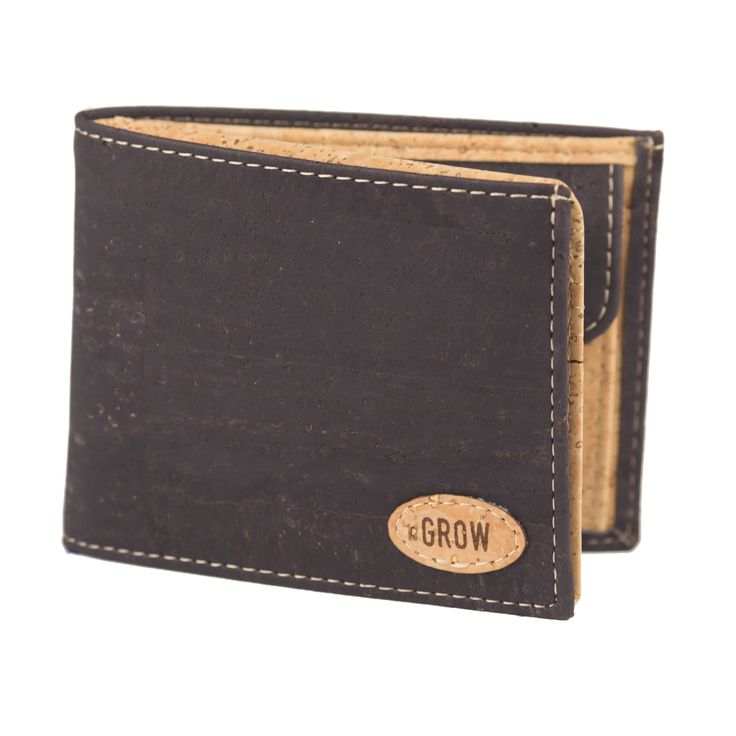 Mens wallet, Black Cork wallet, FREE SHIPPING, Vegan wallet, eco wallet, vegan Product, handmade wallet, gift for him, green Products, Kork by GrowFromNature on Etsy