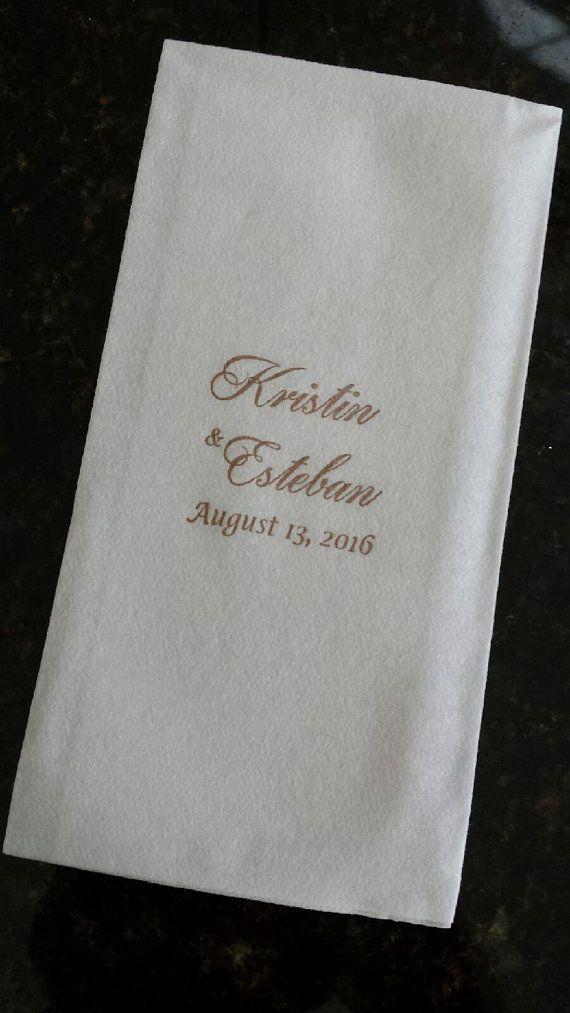 Personalized Paper Hand Towels Guest Towels Napkins Super Soft