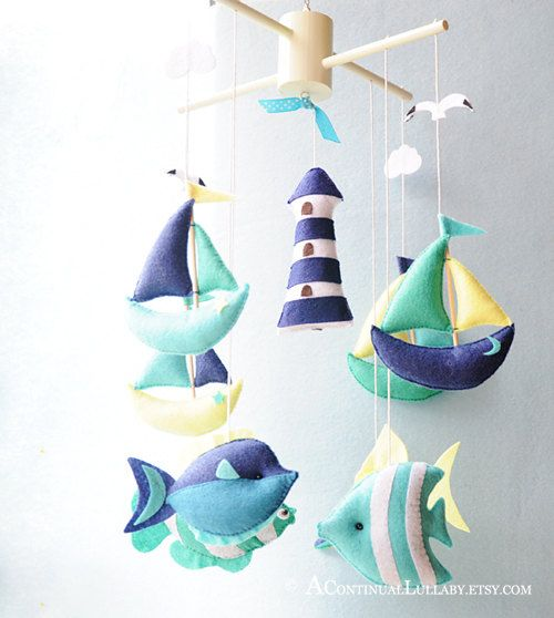 Sailing Mobile No.3 via Etsy