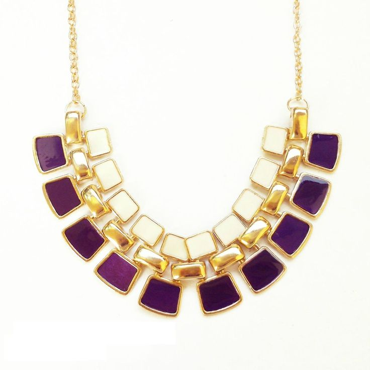 The Aster Necklace in purple via daisyline. Click on the image to see more!