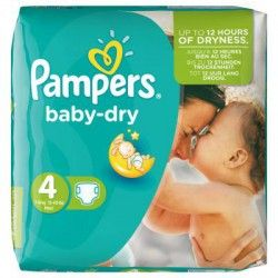 Pack 46 Couches Pampers Baby Dry de taille 4 sur Couches Zone
