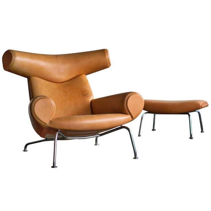 Ox Chair and Ottoman designed by Hans Wegner