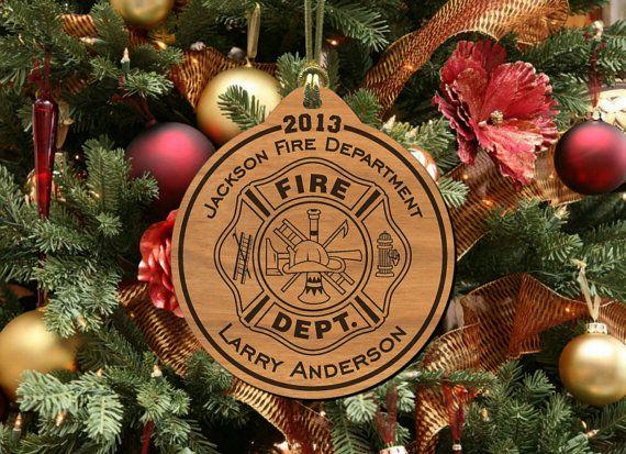 Firefighter+Ornament+Keepsake+Gift+by+BlueMoonLaserShop+on
