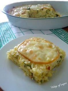Riso al forno con zucchine pancetta e scamorza ricetta - wings of sugar blog