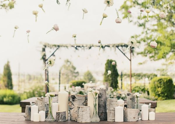 white birch candle displays