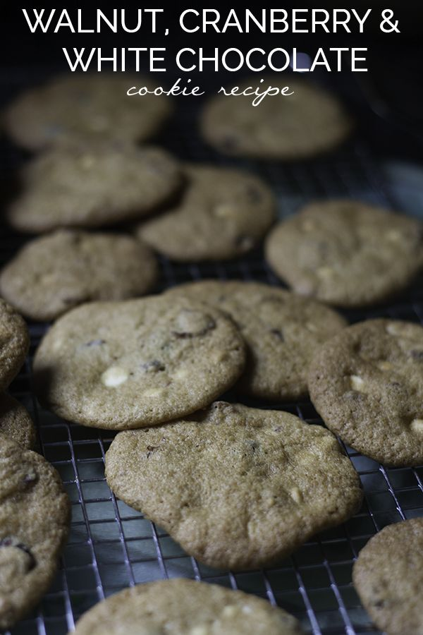Walnut, Cranberry, White Chocolate Chip Cookies Recipe