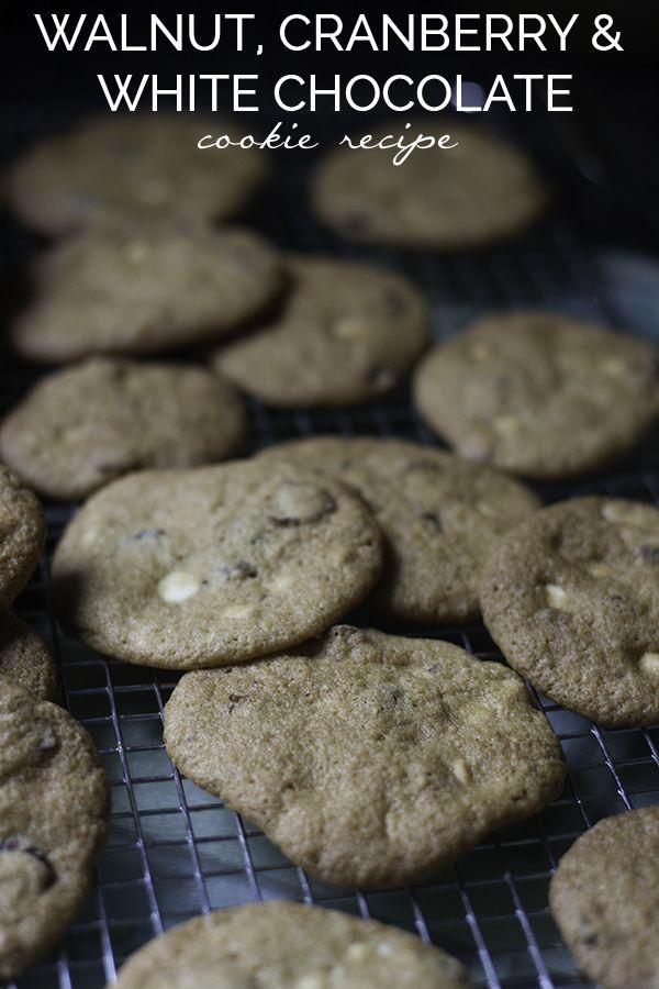 Walnut, Cranberry, White Chocolate Chip Cookies Recipe