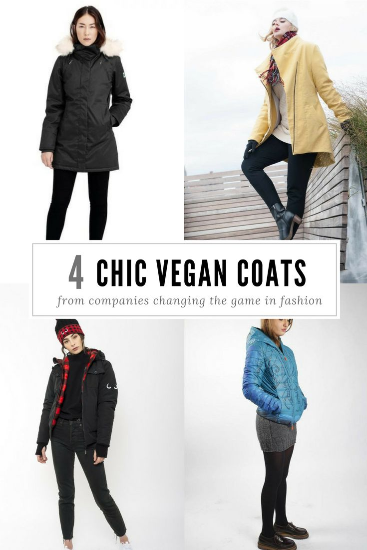 Chic vegan winter coats keep you warm without wool or down!