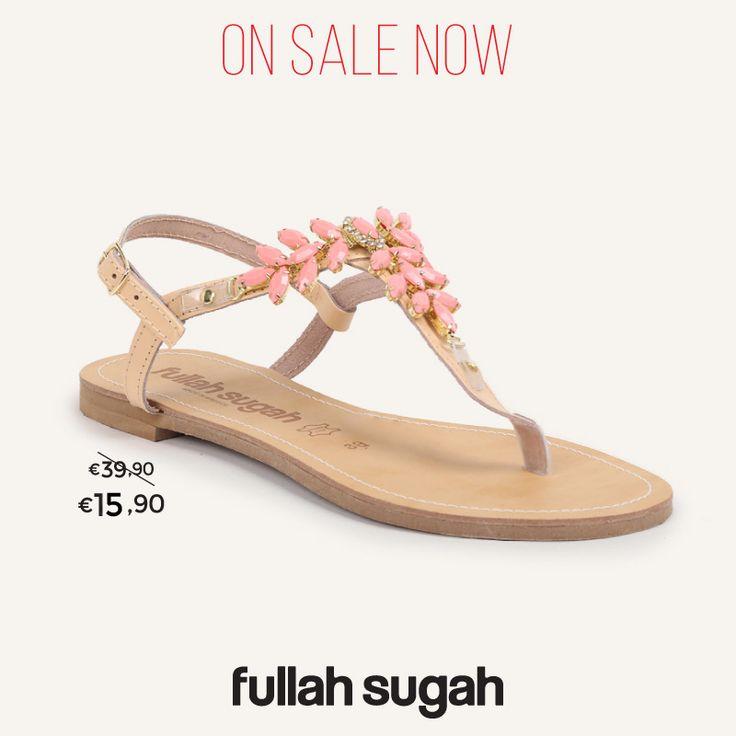 On Sale Now! Fullah Sugah Σανδάλι με πέτρες   2446105811 #sales #trends #style #shoes #sandals #fullah_sugah