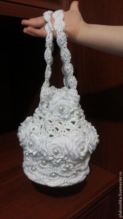 Купить сумочка невесты - сумочка ручной работы, свадебные аксессуары, вязанная…