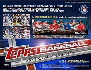 2017 Topps Baseball Retail Edition Complete 705 Card Factory Set