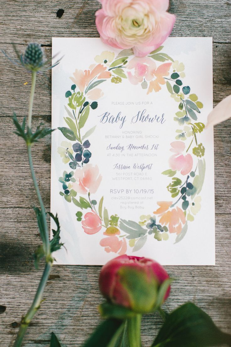 Floral Baby Shower, Baby Shower Invite