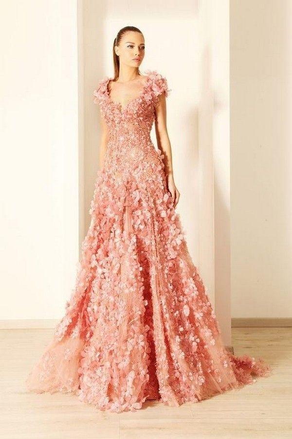 Rami Kadi Couture Pink Wedding Dress