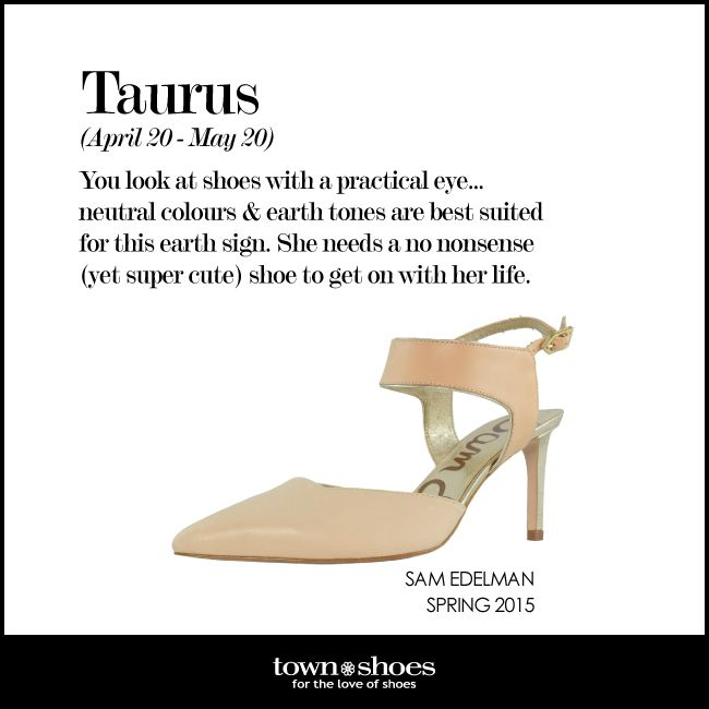 Are you a true #Taurus who looks at shoes with a practical eye? Tag your favourite Taurus! #horoscope #townshoes