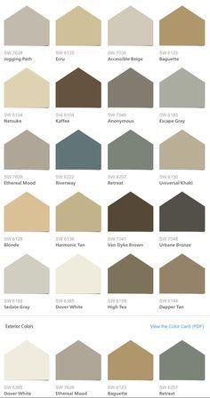 Sherwin williams hgtv home neutral nuance color palette paint colors pinterest hgtv for Sherwin williams exterior color palette